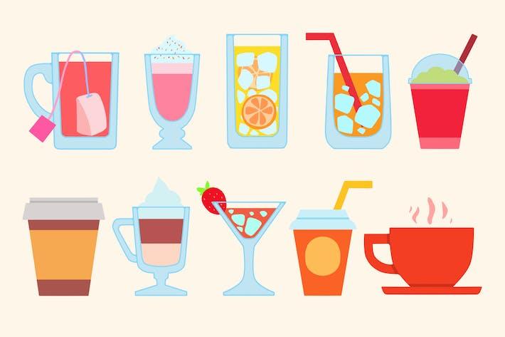 Hip Beverages Clipart by Jumsoft on Envato Elements