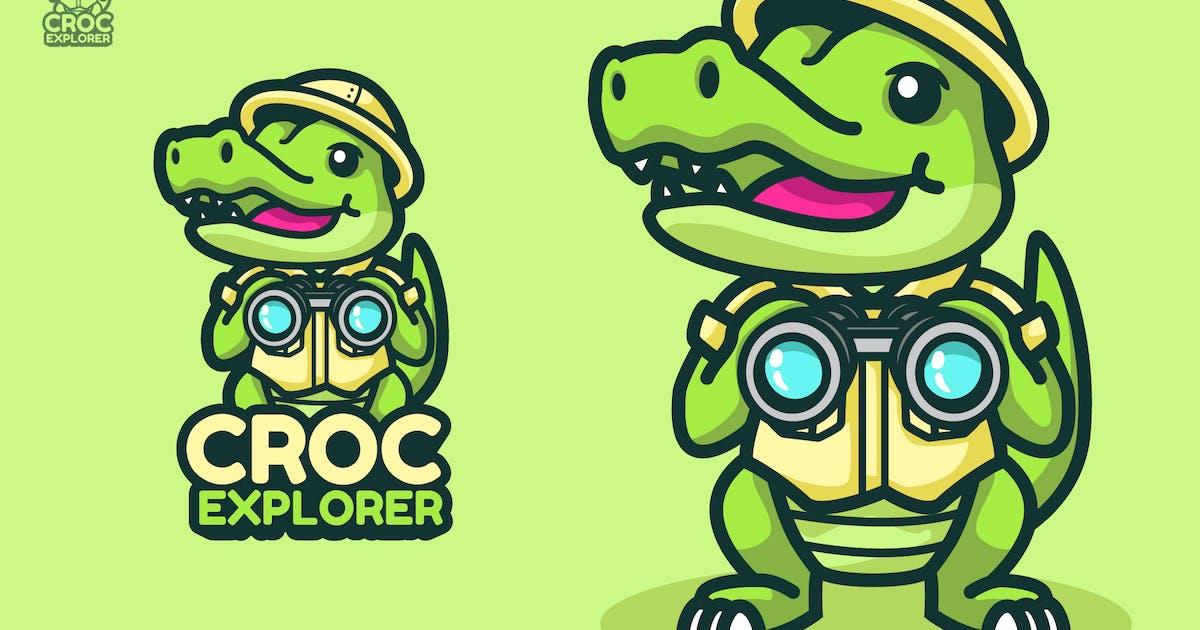 Download Croc Explorer Mascot & Esport Logo by aqrstudio