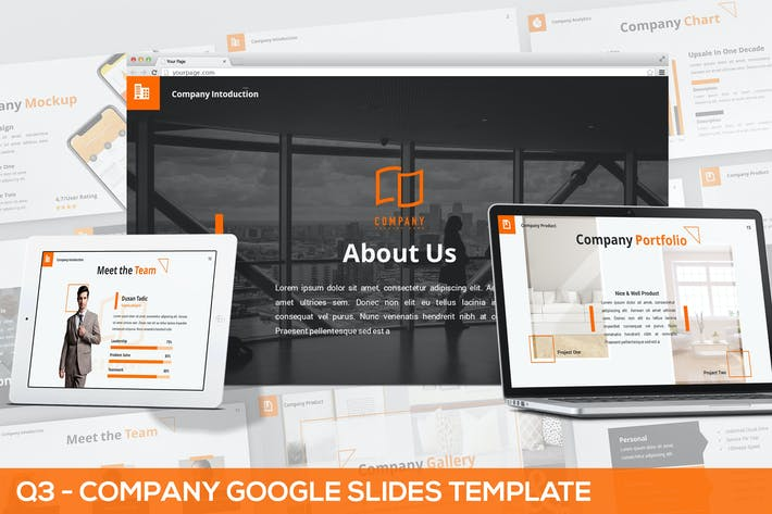 Thumbnail for Q3 - Company Google Slides Template