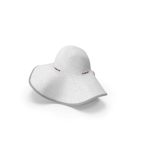Womens Sun Hat White
