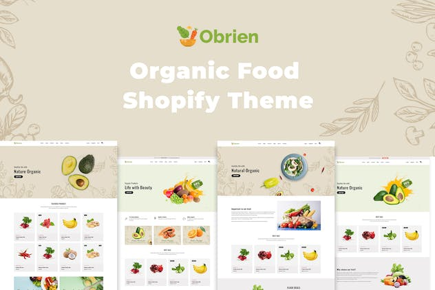 Obrien – Organic Food Shopify Theme