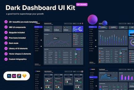 Dark Dashboard UI Kit