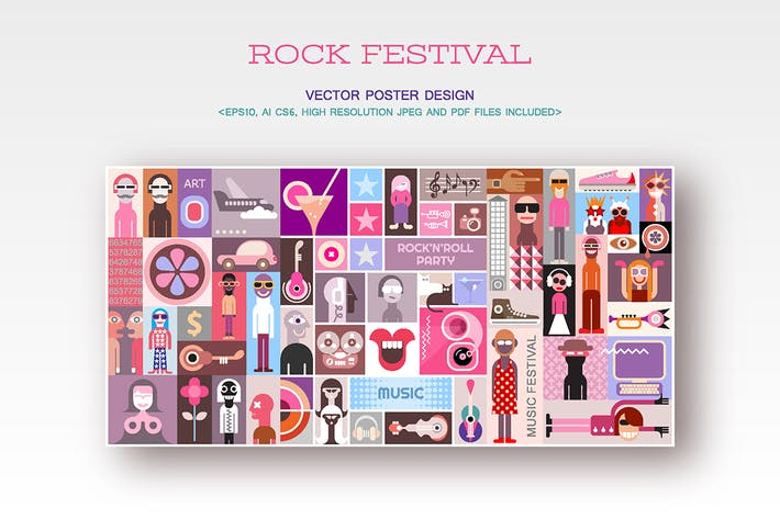 Thumbnail for Rock Festival Vector Poster Design