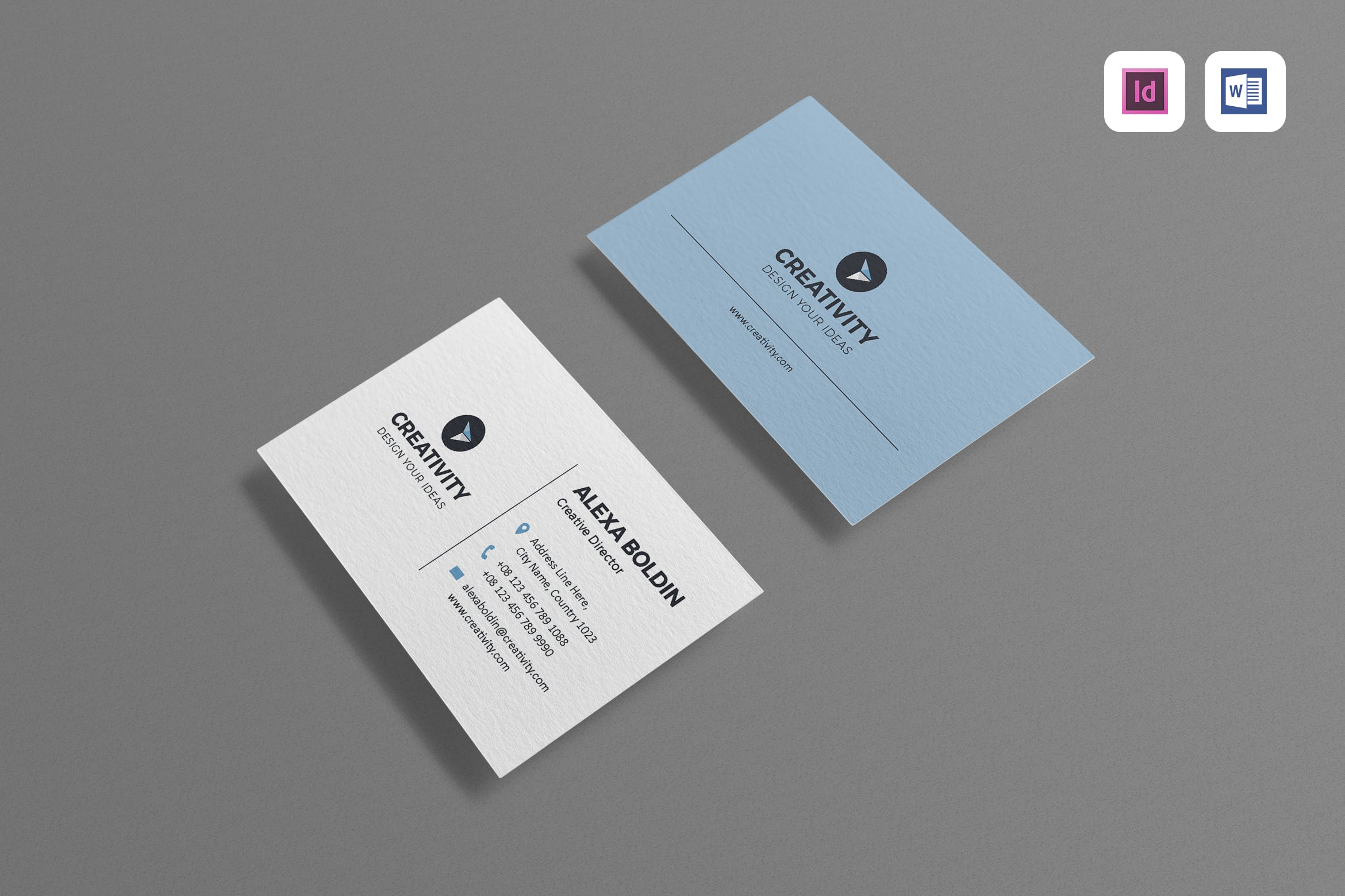 Modern business card templates and styles for 2017 envato 2 simple card template colourmoves