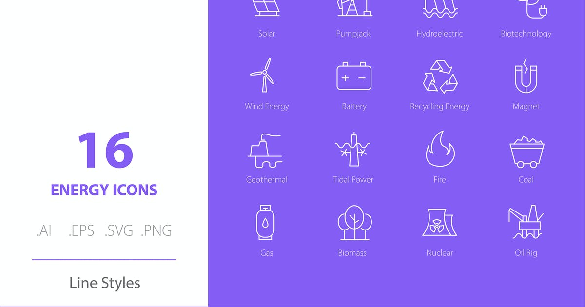 Download Energy Icon Set Line Styles by Richard_2010