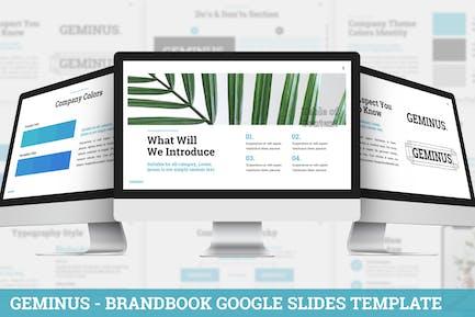 Geminus - Брендбук Google слайды Шаблон