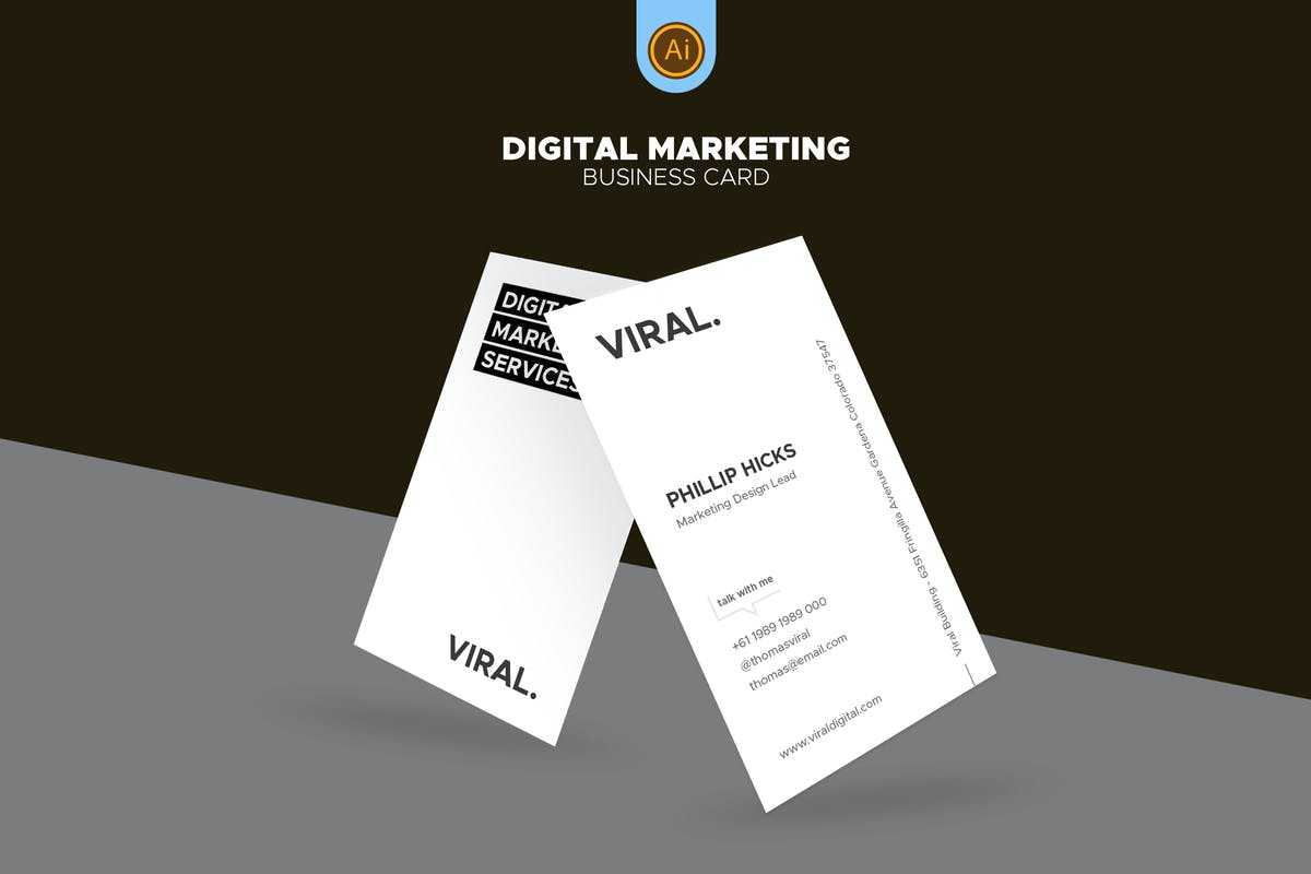 Digital Marketing Business Card 07 By Afahmy On Envato Elements