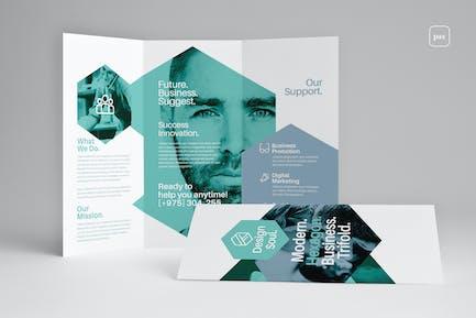 Dreifache Broschüre
