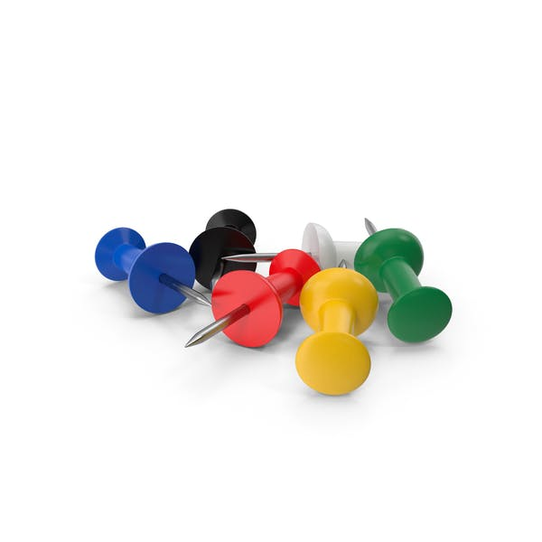 Assorted Colors Push Pins