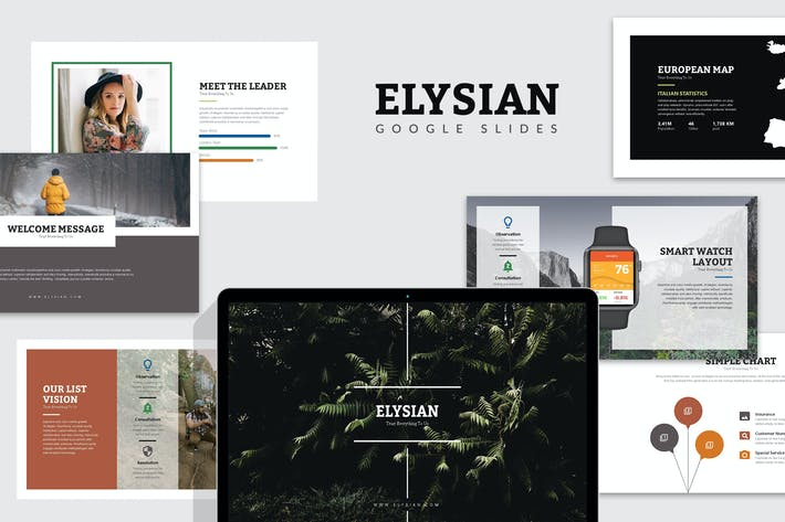 Thumbnail for Elysian : Nature Lookbook  Google Slides