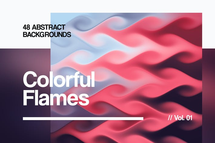 Thumbnail for Colorful Flames | Abstract Backgrounds | Vol. 01