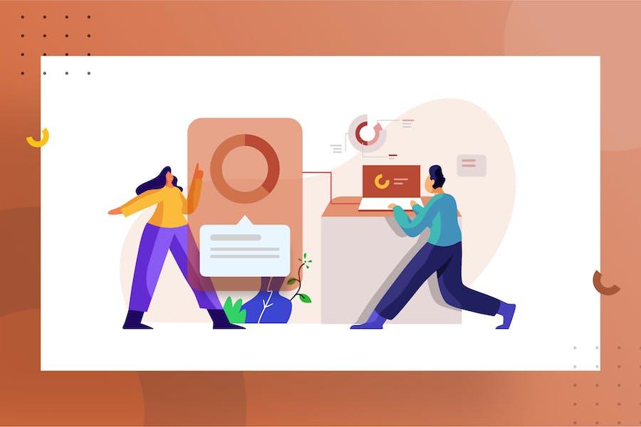 Data integration Illustration for website