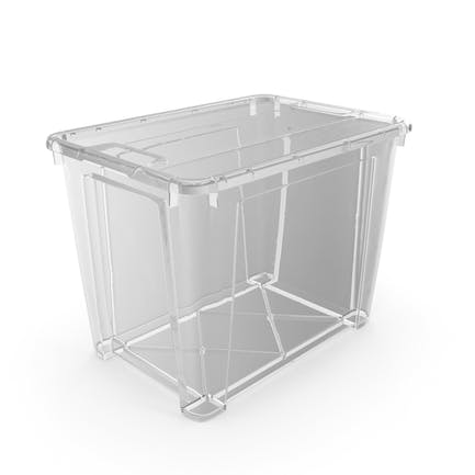 Large Transparent Plastic Container with Lid
