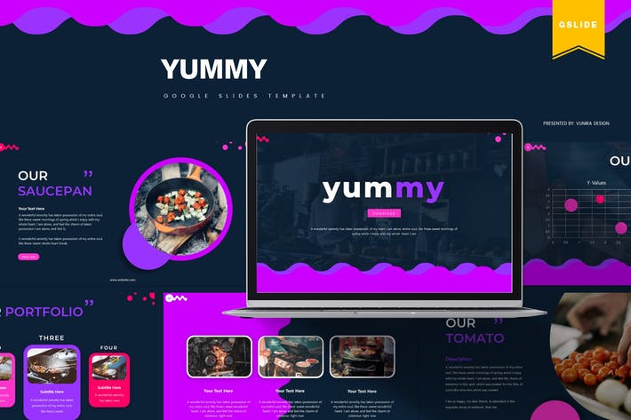 Thumbnail for Yummy | Шаблон слайдов Google