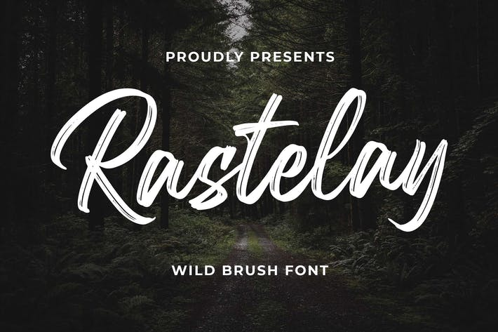 Thumbnail for Rastelay Wild Brush Font