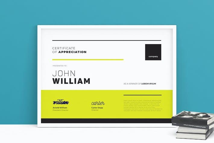 Thumbnail for Modern Certificate 05