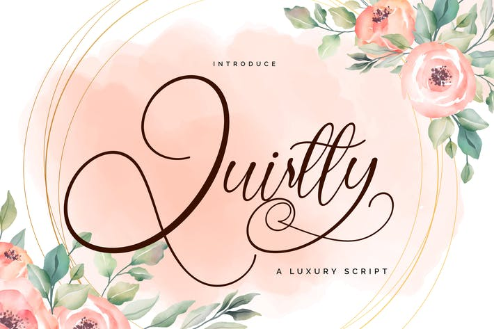 Thumbnail for Quirtty | A Luxury Script Font