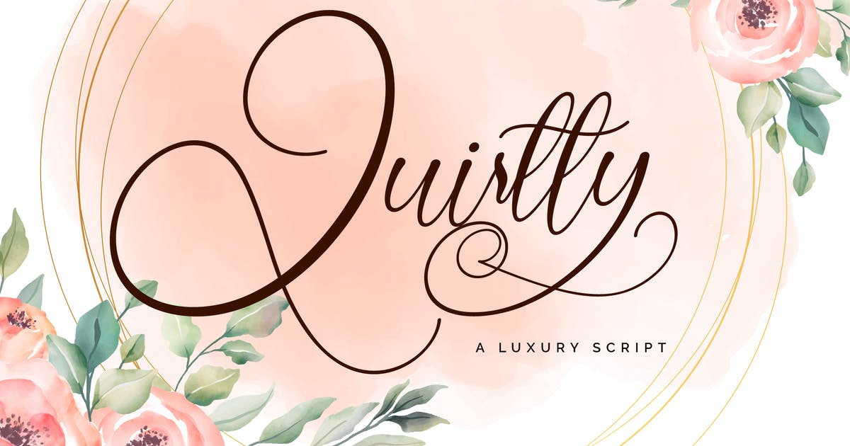 Download Quirtty | A Luxury Script Font by Vunira