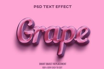 Grape text effect