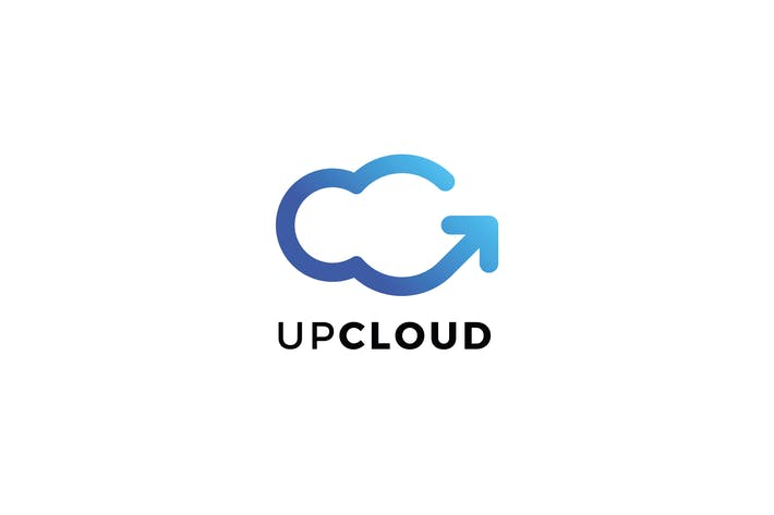 Cover Image For Up Cloud Logo C Letter Template