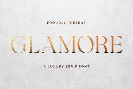 Glamore - Pantalla de lujo Con serifa