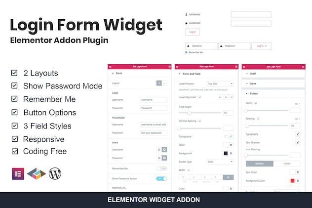 Login Form Widget Elementor Addon Plugin