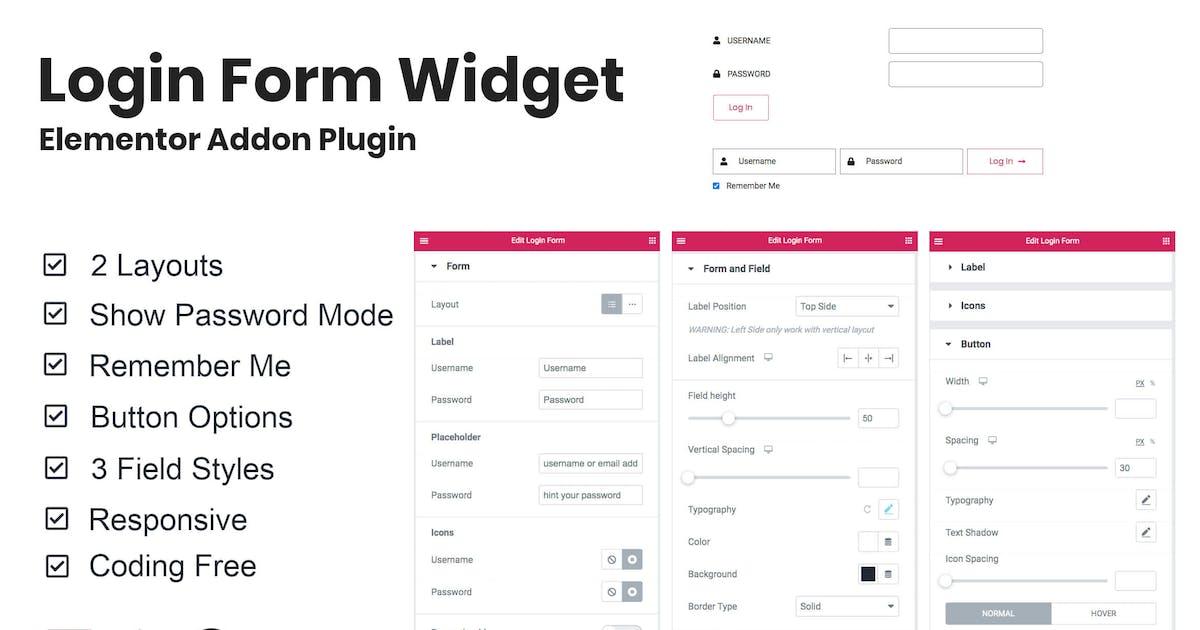 Download Login Form Widget Elementor Addon Plugin by TemeGUM