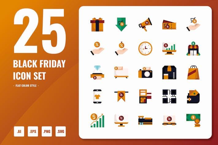 Thumbnail for Black Friday Flat Icons