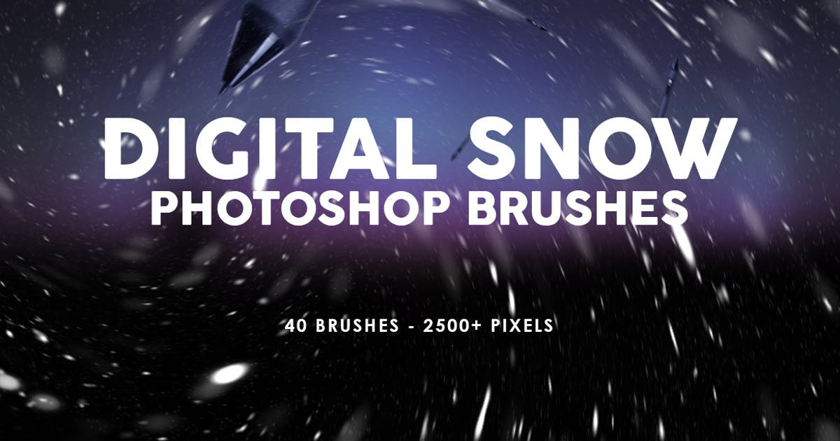 Download Digital Snow Photoshop Brushes by M-e-f