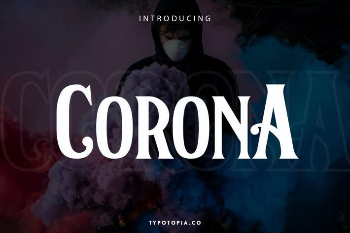 Corona – Display Font