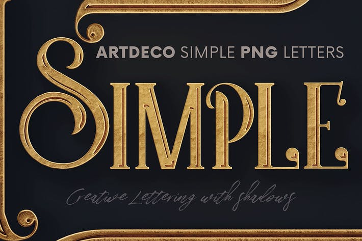 Thumbnail for Artdeco Simple - 3D Lettering