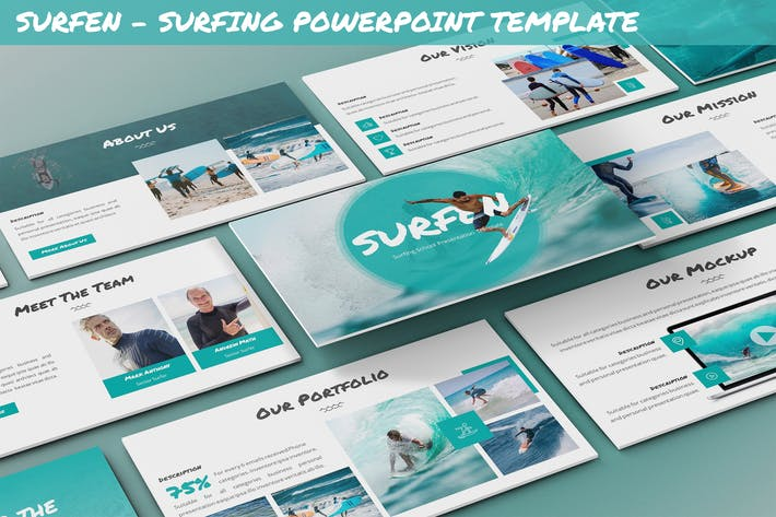Thumbnail for Surfen - Surfing Powerpoint Template
