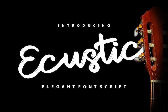 Thumbnail for Ecustic | Elegant Script Font