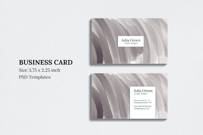 Thumbnail for Abstract Crayon Business Card