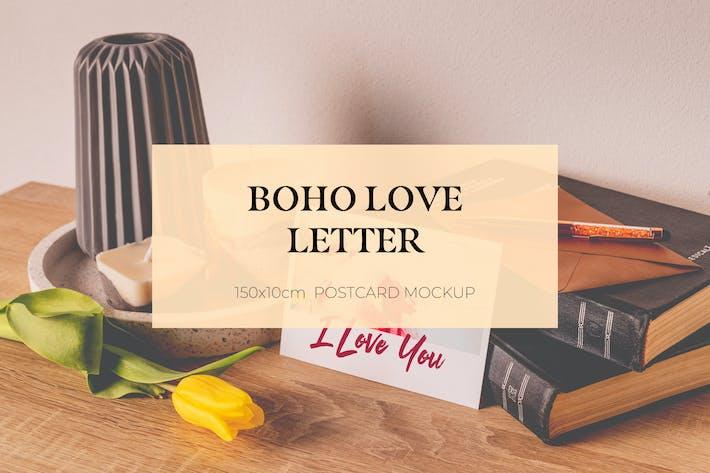 Thumbnail for Boho Love Letter Mockup