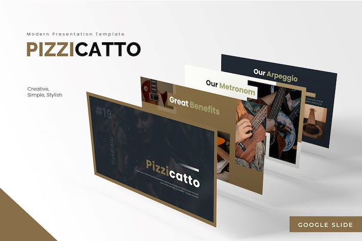 Thumbnail for Pizzicatto - Google Slides Template