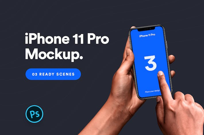 Thumbnail for iPhone 11 Pro Mockup - Vol 04