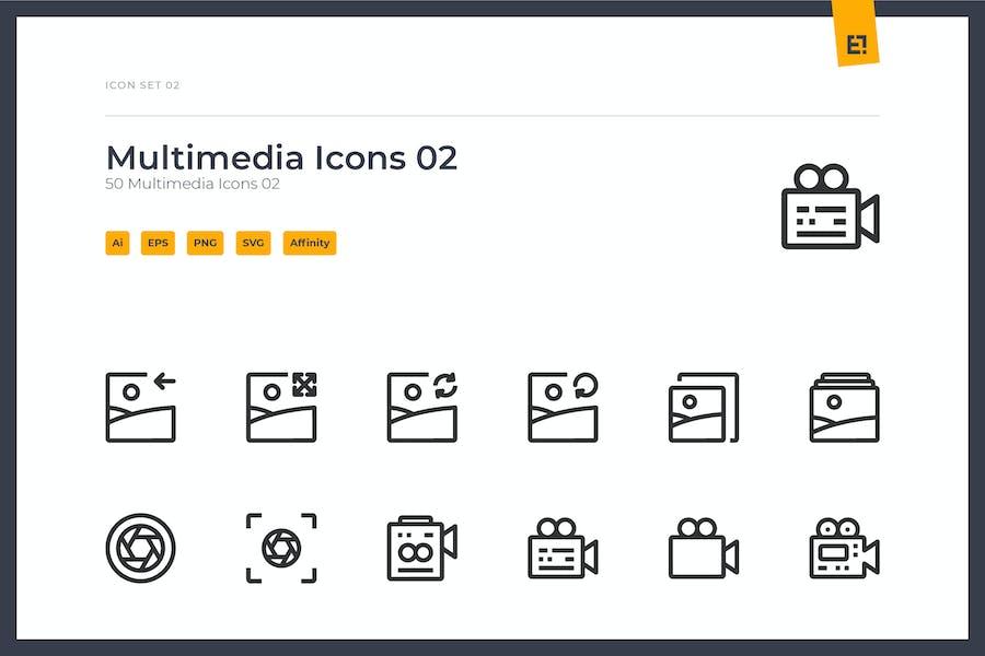 Icono - Conjunto de iconos multimedia 02