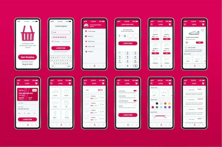 Thumbnail for E-Commerce Unique Mobile App UI Kit