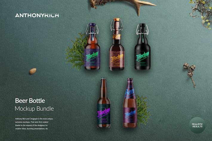 Thumbnail for Beer Bottle Mockup Bundle