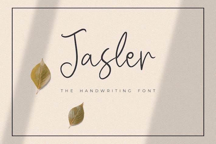 Thumbnail for Jasler - The Handwriting Font