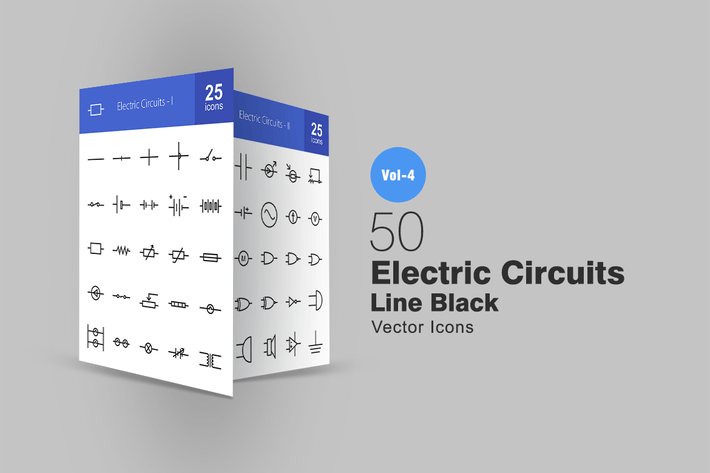 Thumbnail for 50 Иконки линий электрических цепей