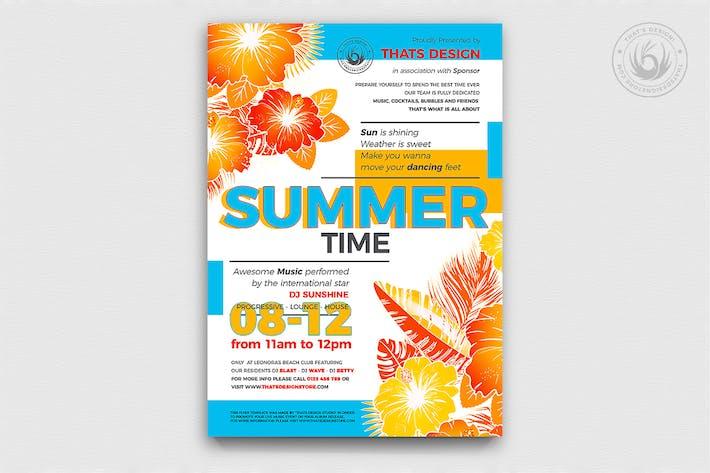 Thumbnail for Summertime Flyer Template V2