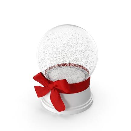 Снежный глобус с красным бантом