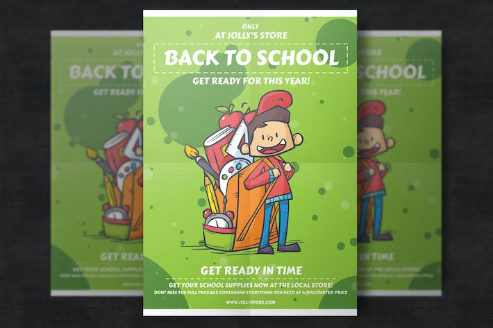 Thumbnail for Back To School Flyer Template