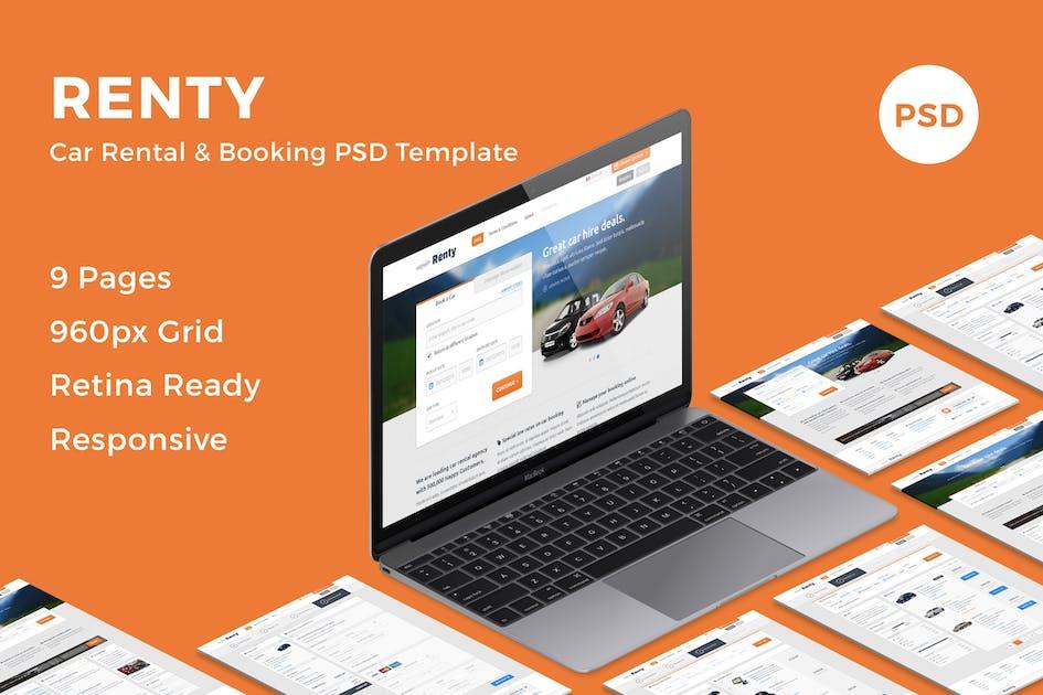 Download Renty - Car Rental & Booking PSD Template by bestwebsoft