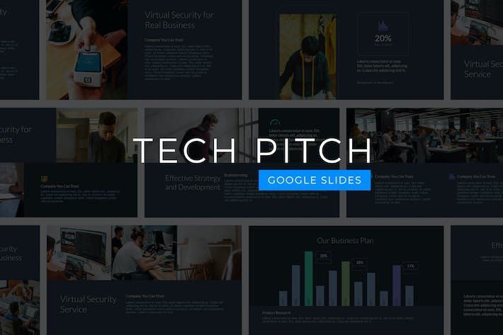 Thumbnail for Tech Pitch - Google Slides Template