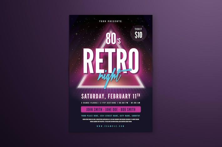 Thumbnail for 80's Retro Neon Flyer