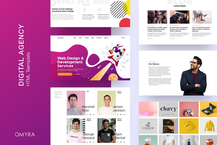 Thumbnail for Omyra - Digital Agency HTML Template