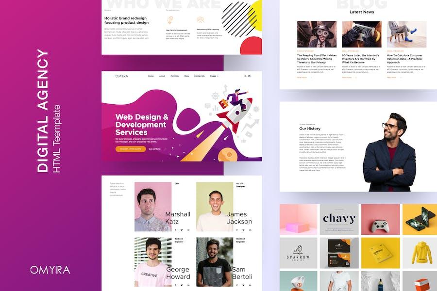 Omyra - Digital Agency HTML Template